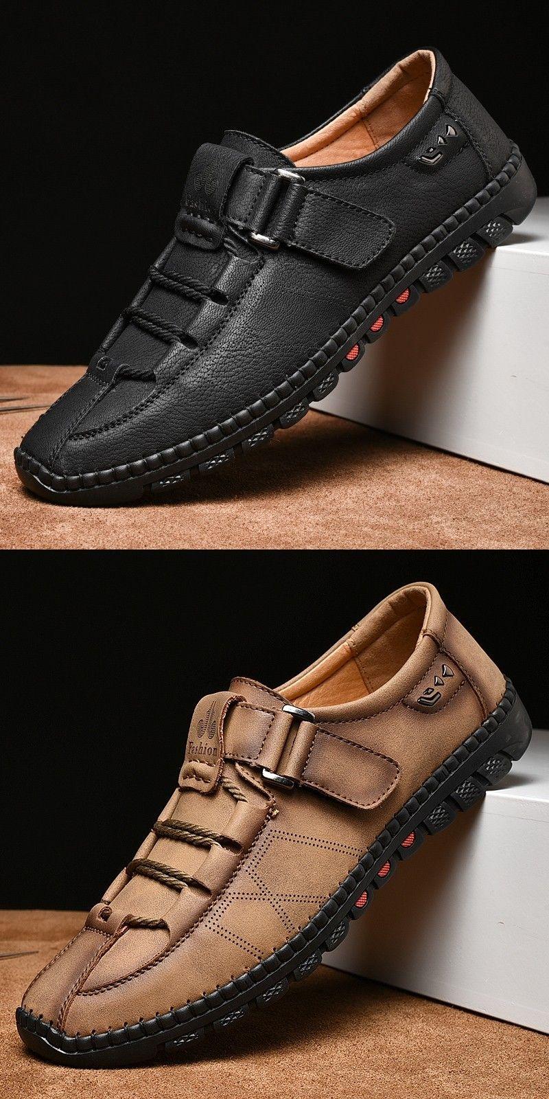 Prelesty Latest Mode Men Formal Shoes Gentleman Fashion Premium Genuine Cow Leather Driving Buckle