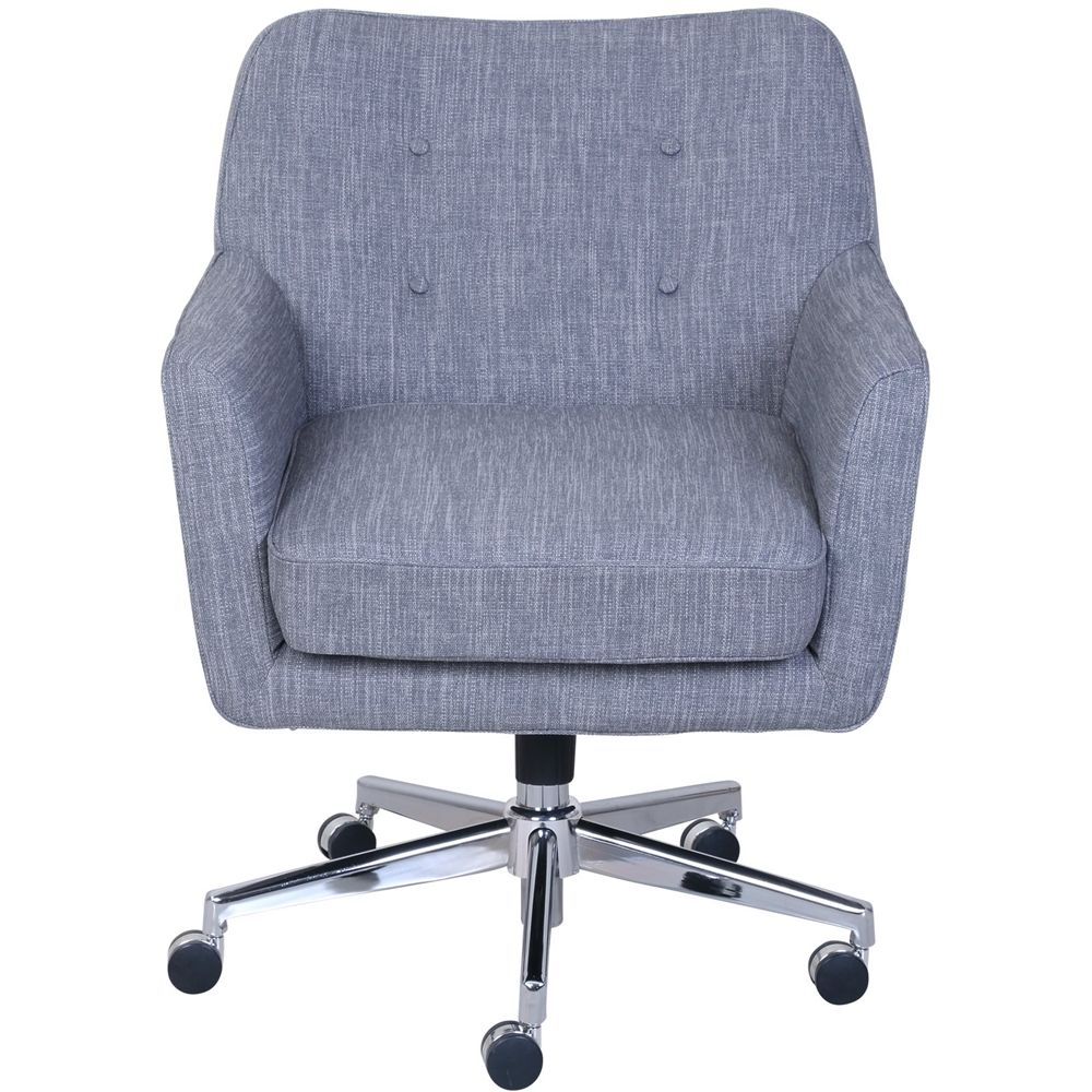 Serta Ashland 5 Pointed Star Memory Foam Office Chair Gray 47140 Home Office Chairs Office Chair Chair