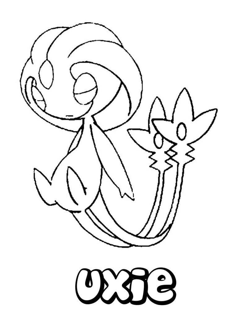 Uxie Pokemon coloring page, More Psychic Pokemon Coloring ...