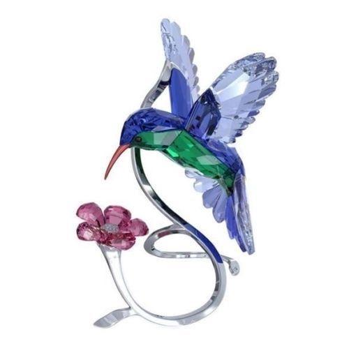 HUMMINGBIRD w FLOWERS /& FOLIAGE /& LAVENDER PURPLE CRYSTAL SUN CATCHER ORNAMENT