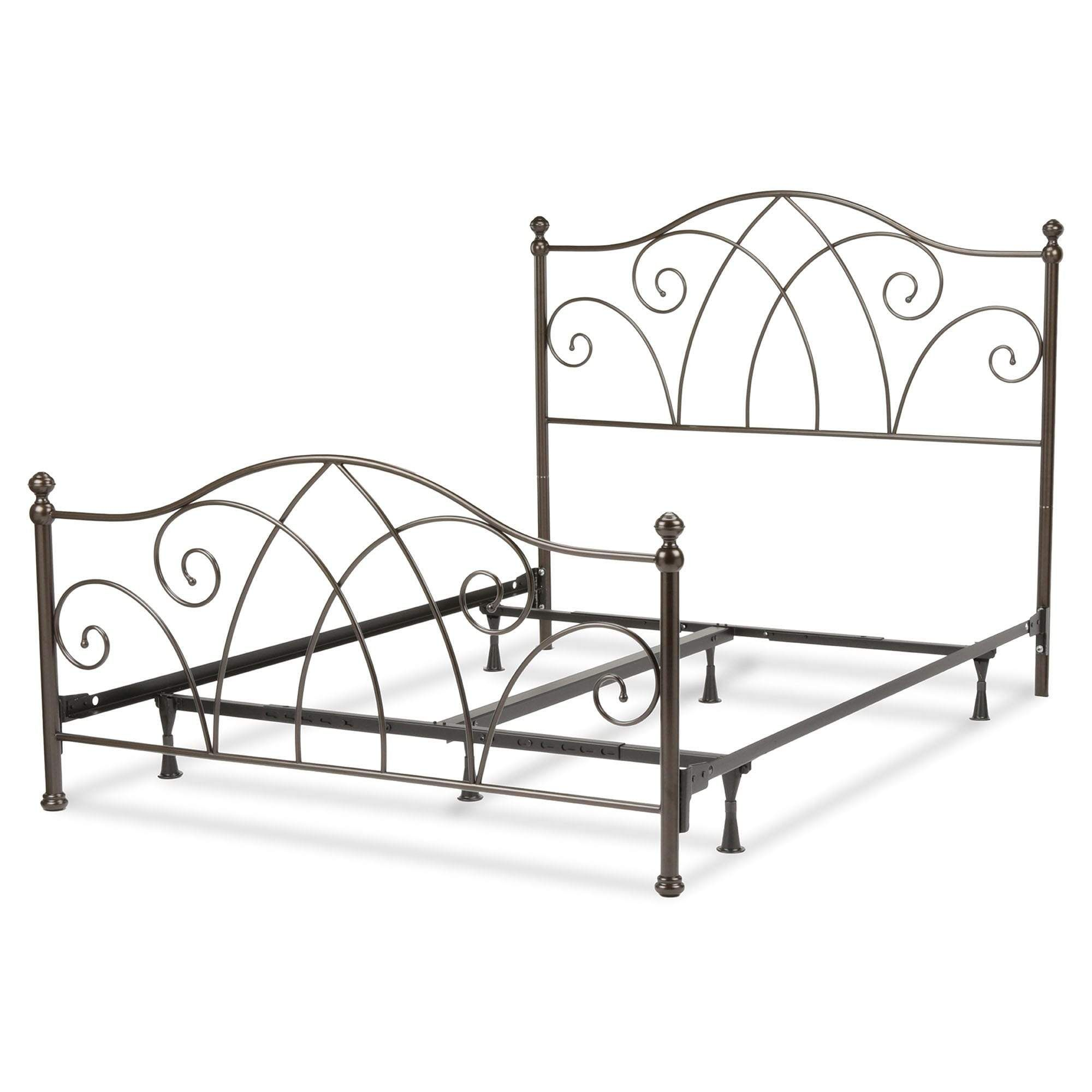 leggett platt deland bed w curved grill designs brown sparkle