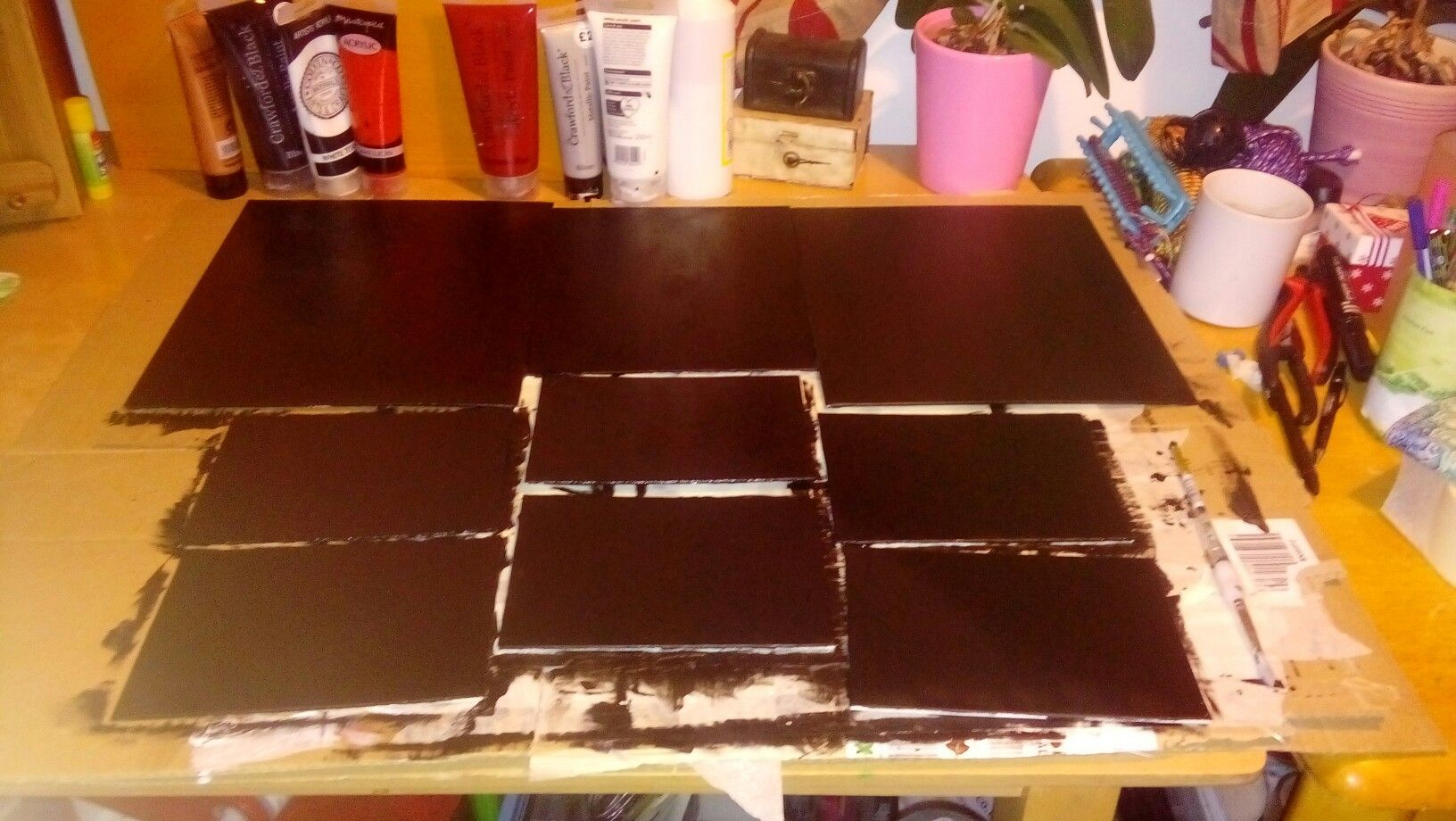 9 canvases that ive painted for laurens art