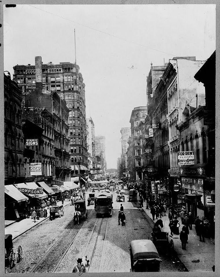 Madison St Chicago 1899 Via Vintage Every Day Chicago