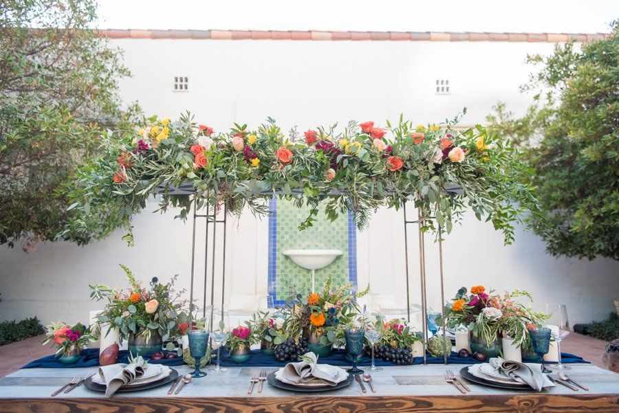 Colorful Navy, Yellow, and Orange Wedding Ideas