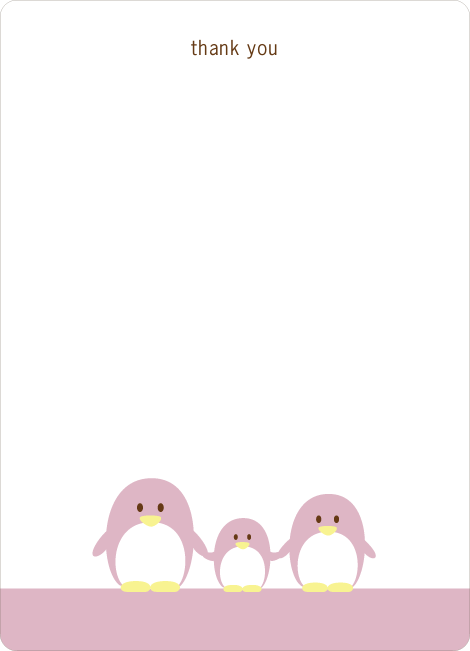 Stationery: 'Penguin Family' cards.