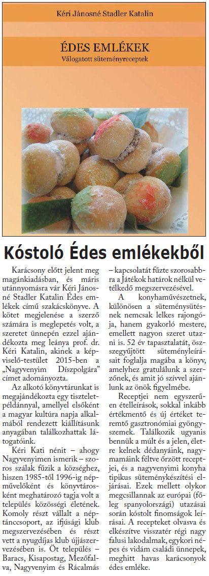 Forrás: Mi újság Nagyvenyimen? (Önkormányzati Lap) 2016/február 15. o.