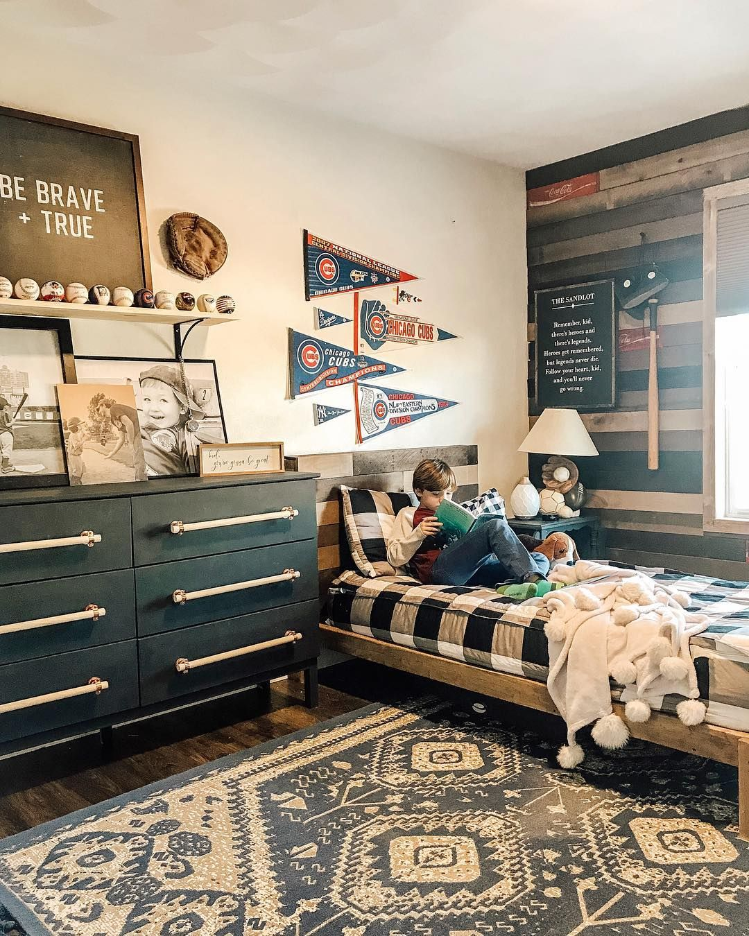 Fawn Teresi On Instagram We Finished His Baseball Themed Bedroom This Weekend And This Room F Baseball Themed Bedroom Baseball Room Decor Baseball Theme Room