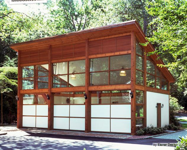 Shed Roof Loft Area Modern Garage Modern Garage Doors Garage Design