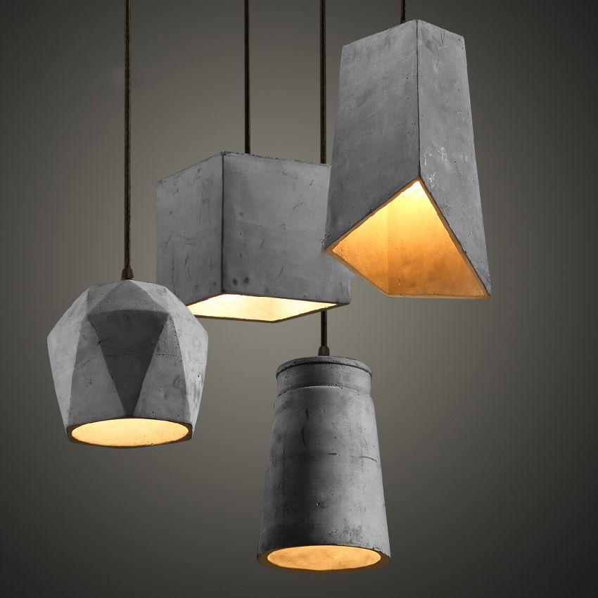 Cheap 4 tipos de cemento de la lámpara colgante colgante lámparas