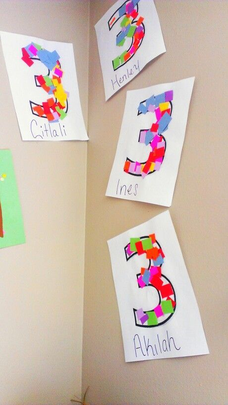 Number 3 Craft Idea Numbers Preschool Number Crafts Numbers