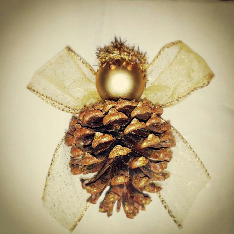 Christmas Angel Pinecone Ornament Pinecone Crafts Christmas Pine Cone Decorations Diy Xmas Ornaments