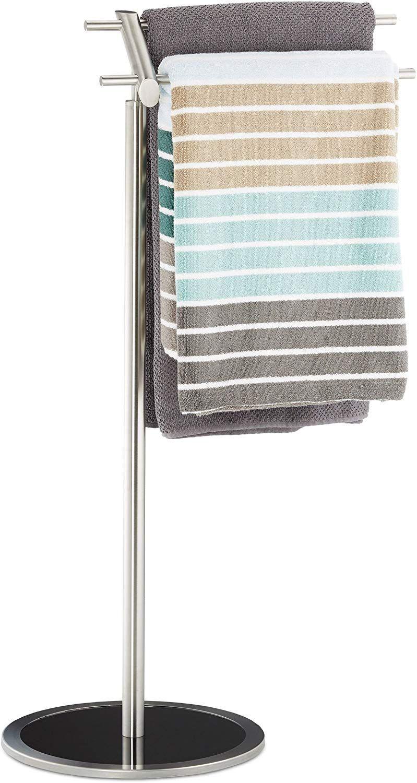 Relaxdays Handtuchhalter freistehend Handtuchstange