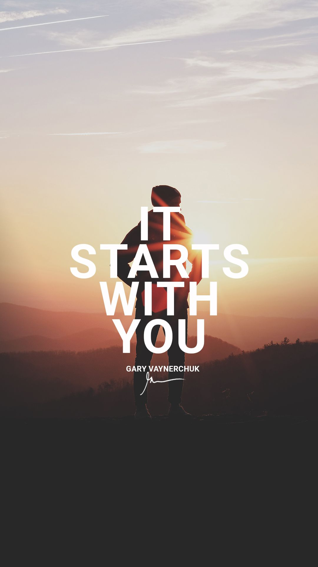 it starts with you. quotesgary vaynerchuk motivational