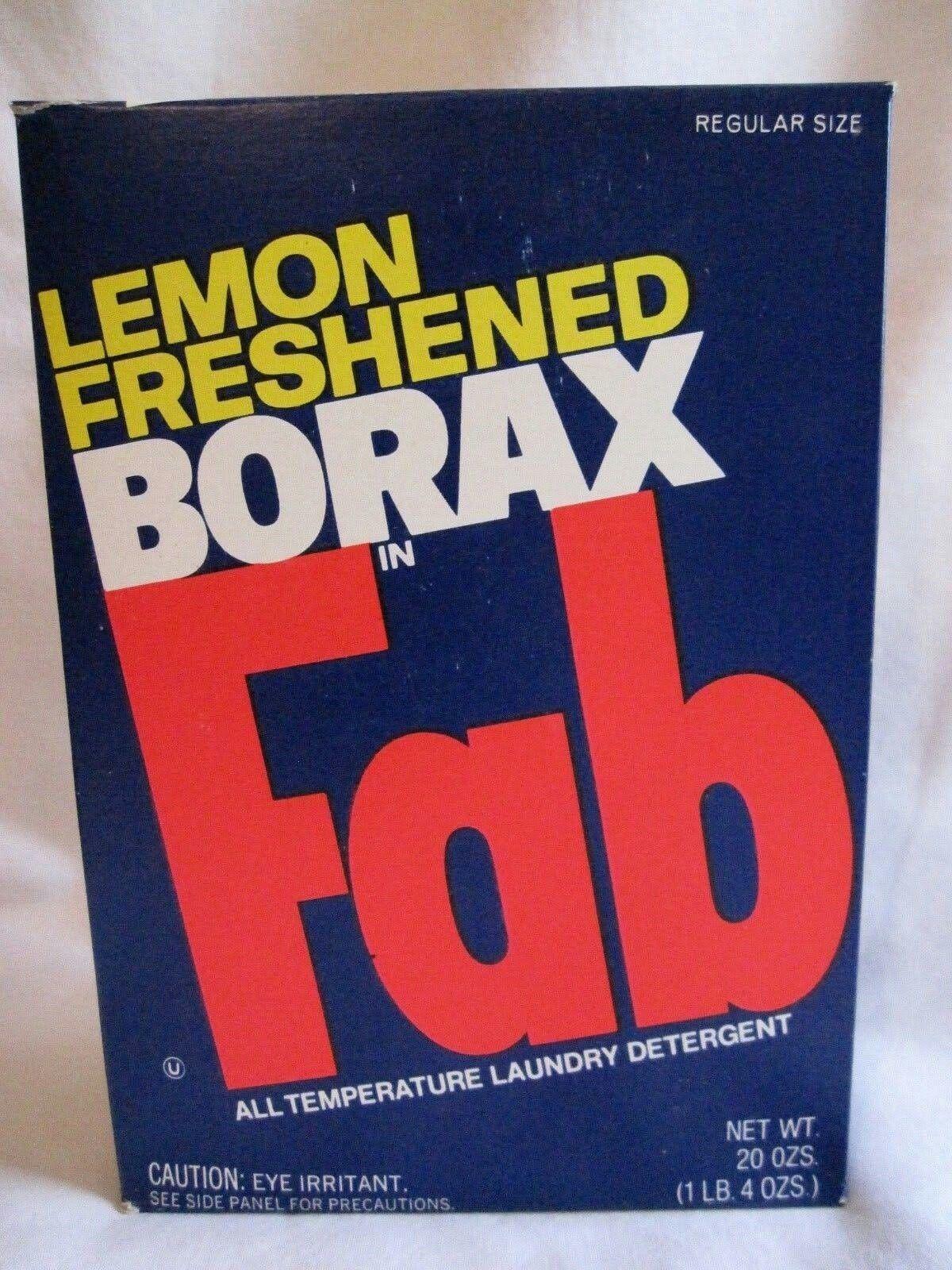 Oh Fab With Lemon Freshened Borax Laundry Detergent Box 1970s