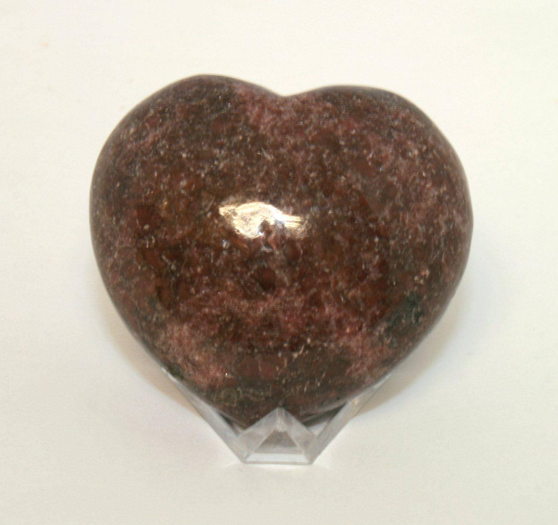 Lepidolite Mica Heart, 1-1/2\
