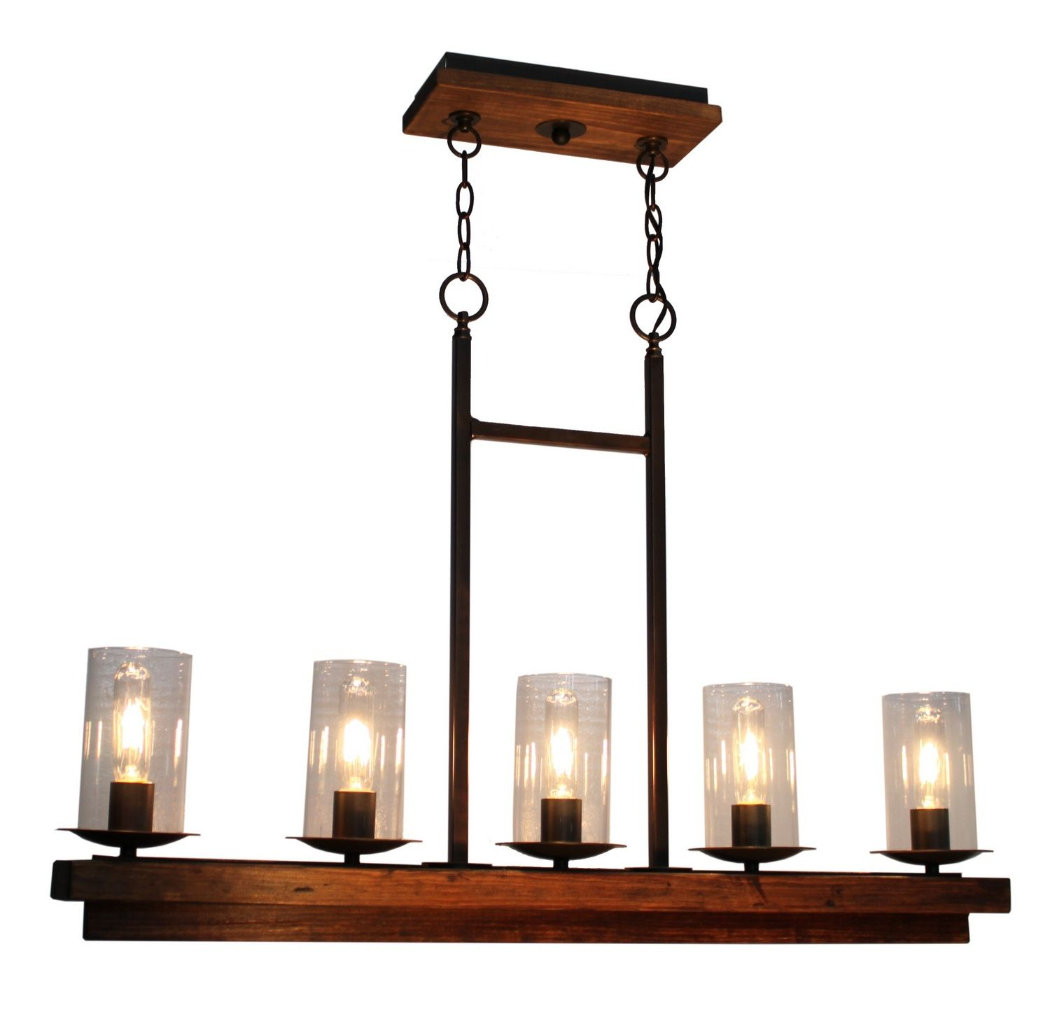 Five Light Island Pendant The Legno Rustico which means rustic wood