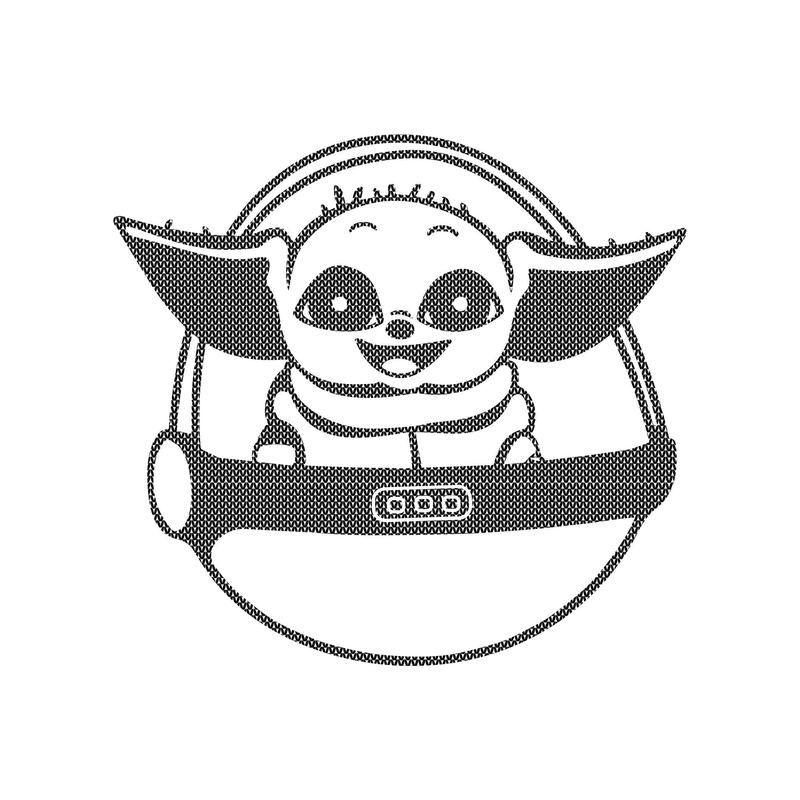 Baby Yoda sweater png, Baby Yoda knitting patterns png