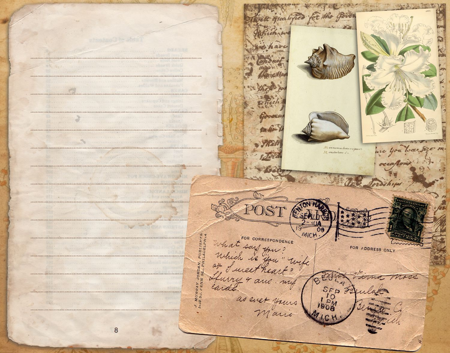Print, Cut, Paste, Craft » Blog Archive » Artistic Journal: pimp your journal with the vintage scrapbooking cards