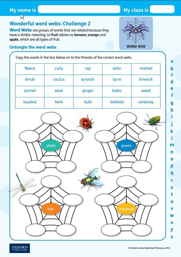 Untangle the word webs with this free challenge activity linked to – Thesaurus Worksheets
