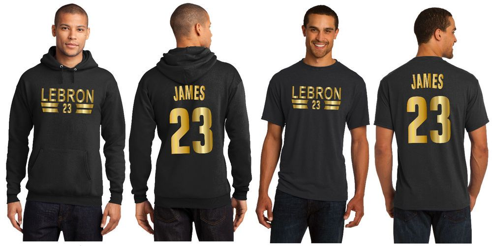 online store b58f5 a9b7d LeBron James LA Lakers Hoodie or T-Shirt Los Angeles Jersey ...
