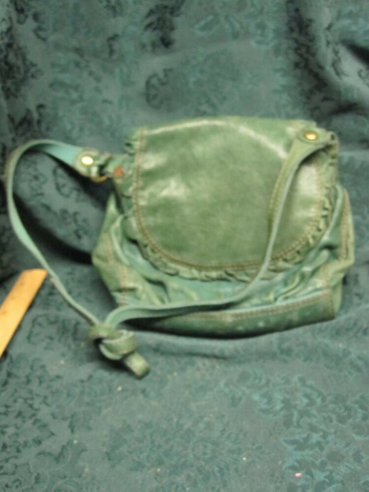 Vintage Lucky Brand Green Italian Leather