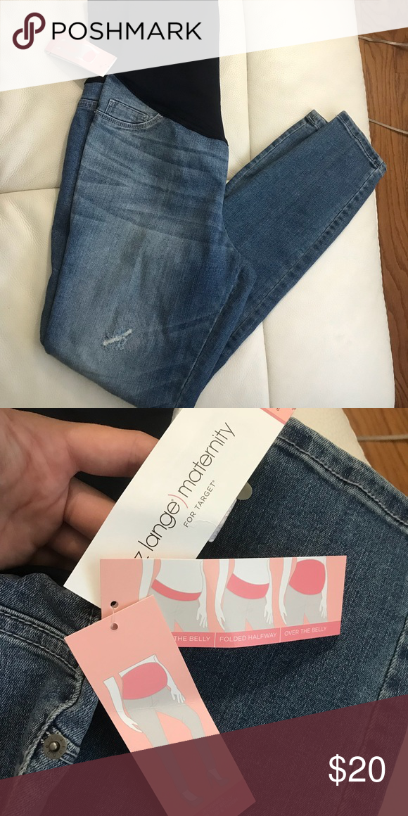 0d46f593f6b7f Distressed Liz Lange Maternity Jeans- Brand New! Brand New Maternity Jeans!  Size small! Distressed and Skinny Liz Lange for Target Jeans Skinny