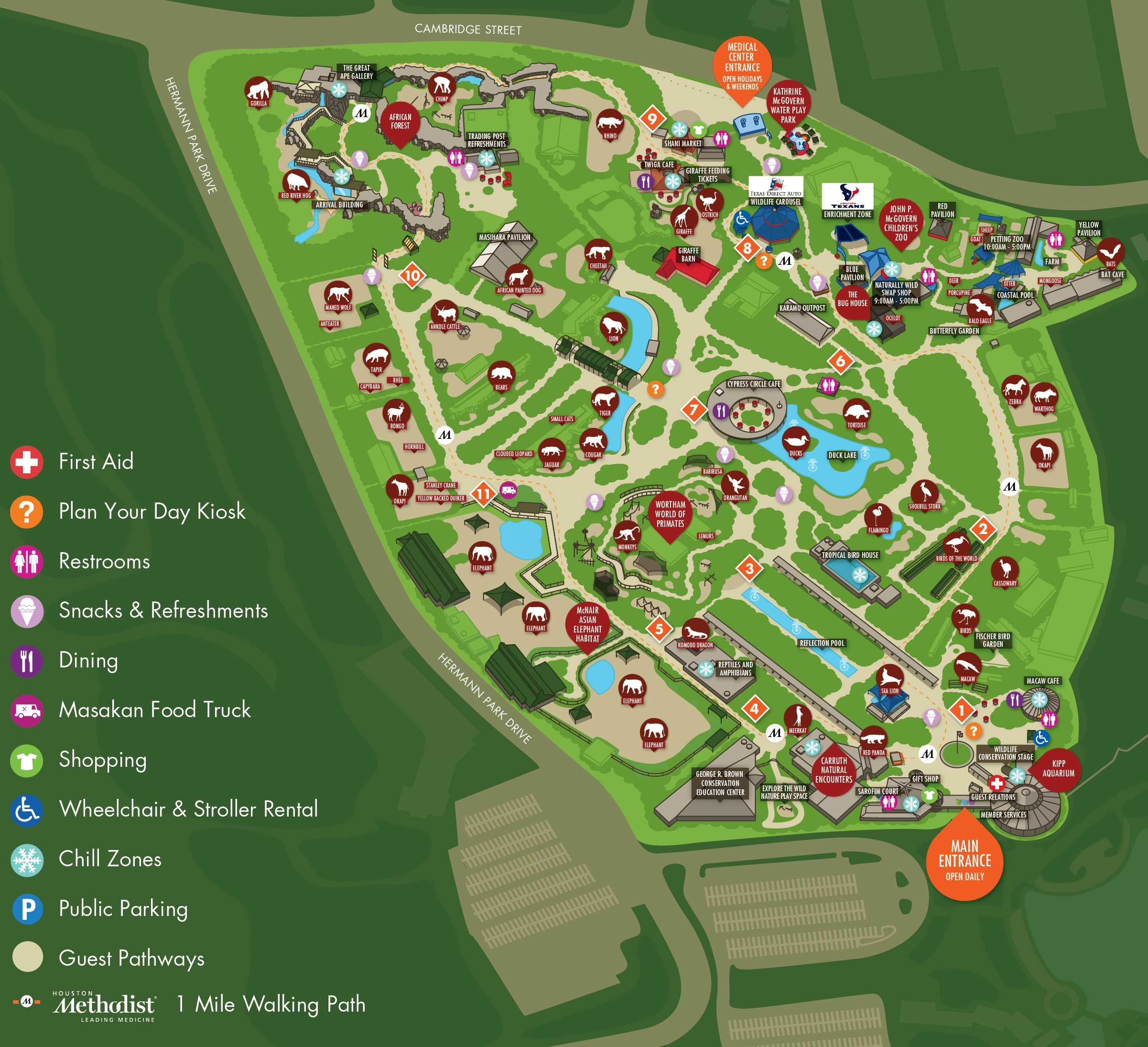 Image result for Houston zoo map | Zoo's and Animal Stuff | Pinterest
