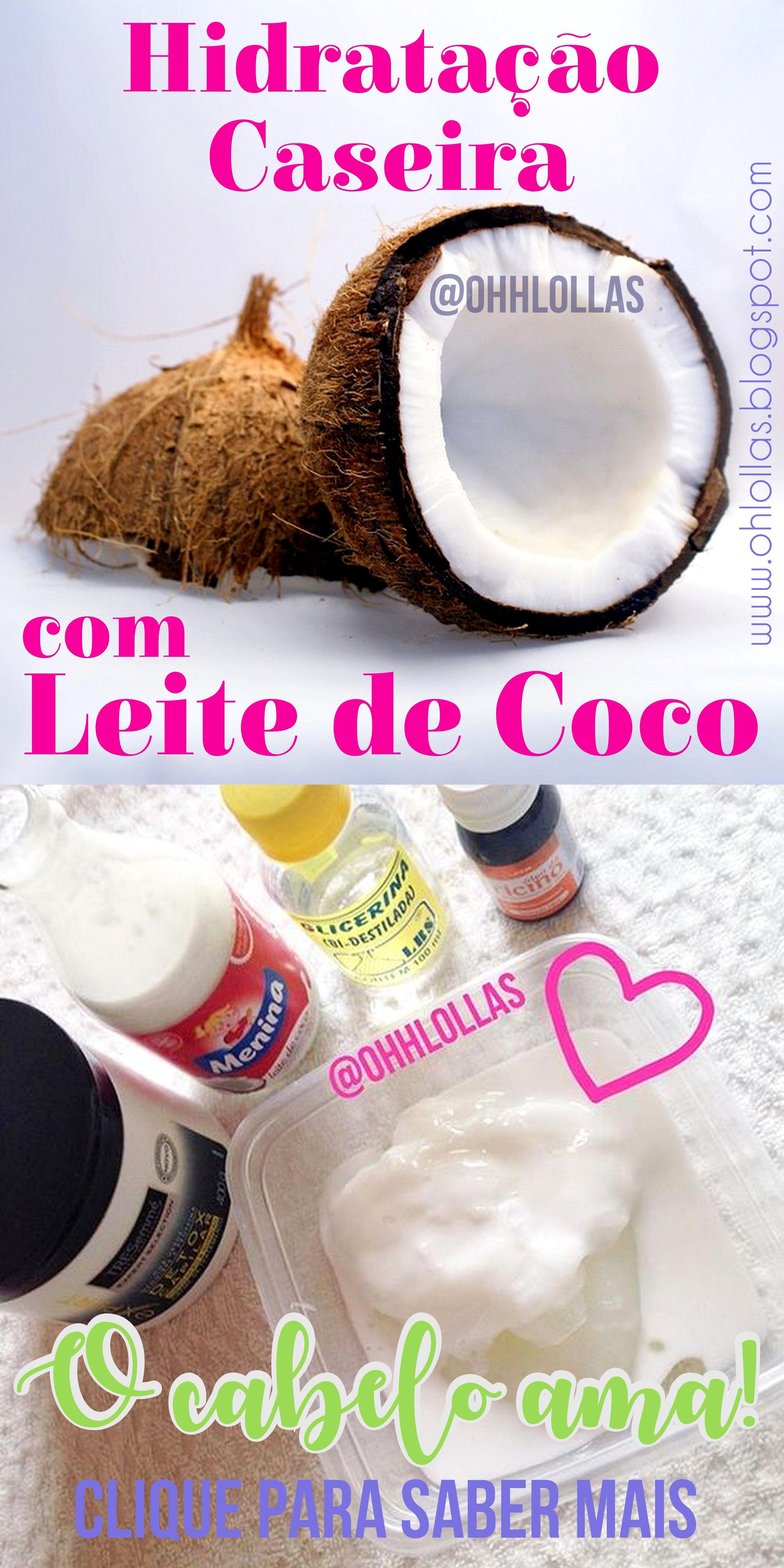 Nutricao E Hidratacao Com Leite De Coco Para Cabelos Ressecados