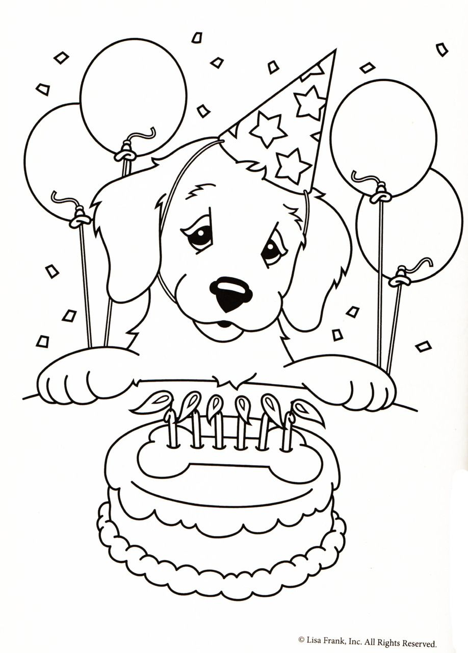 Lisa Frank Coloring Pages New Color Me | Puppy coloring