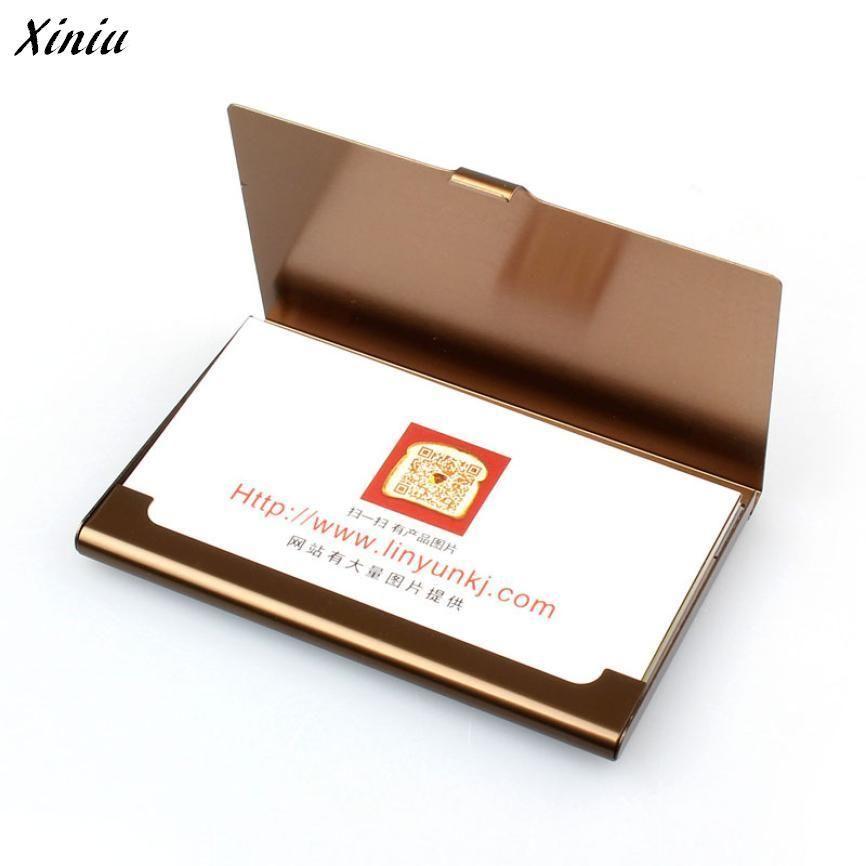 Xiniu Bag Wallets Tarjetero Mujer Travel Aluminum Metal Wallet ...