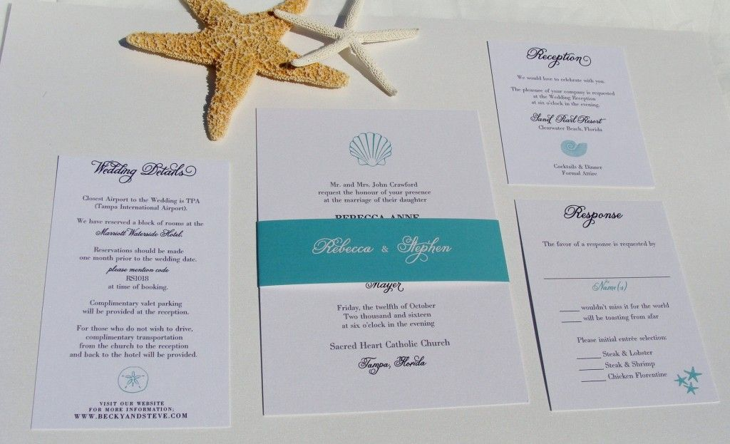 starfish wedding invitations | Wedding ideas | Pinterest | Beach ...