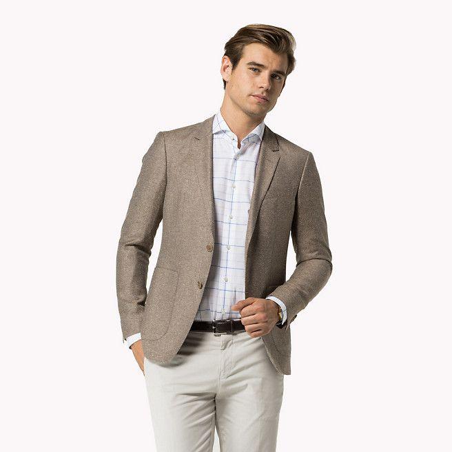 tommy hilfiger wool blend slim fit blazer 204 brown. Black Bedroom Furniture Sets. Home Design Ideas