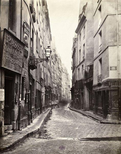 charles marville rue au maire de la rue volta c 1866. Black Bedroom Furniture Sets. Home Design Ideas