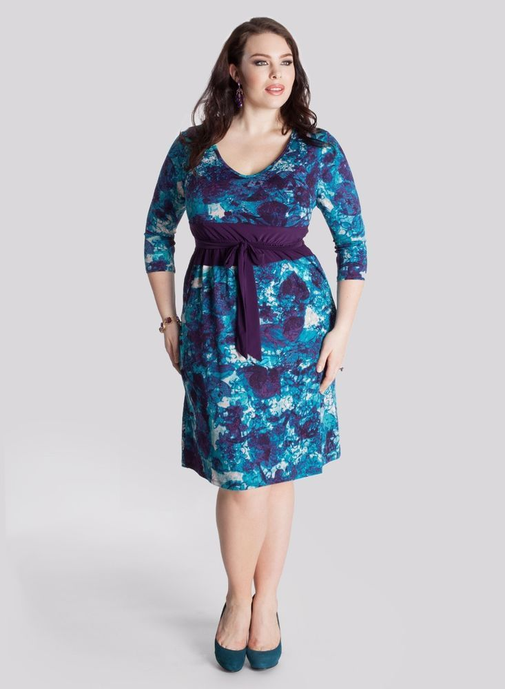 this is a lovely blue geometric dress from igigi! #plussize | love