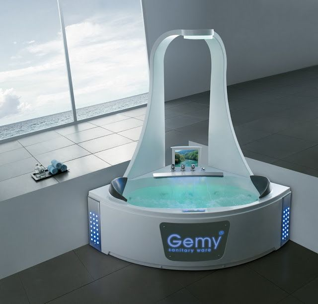 Gemy Bathtub Is A Hi Tech Luxury Bathtub And Shower Bathroom Gadgets Home Tech Home Gadgets