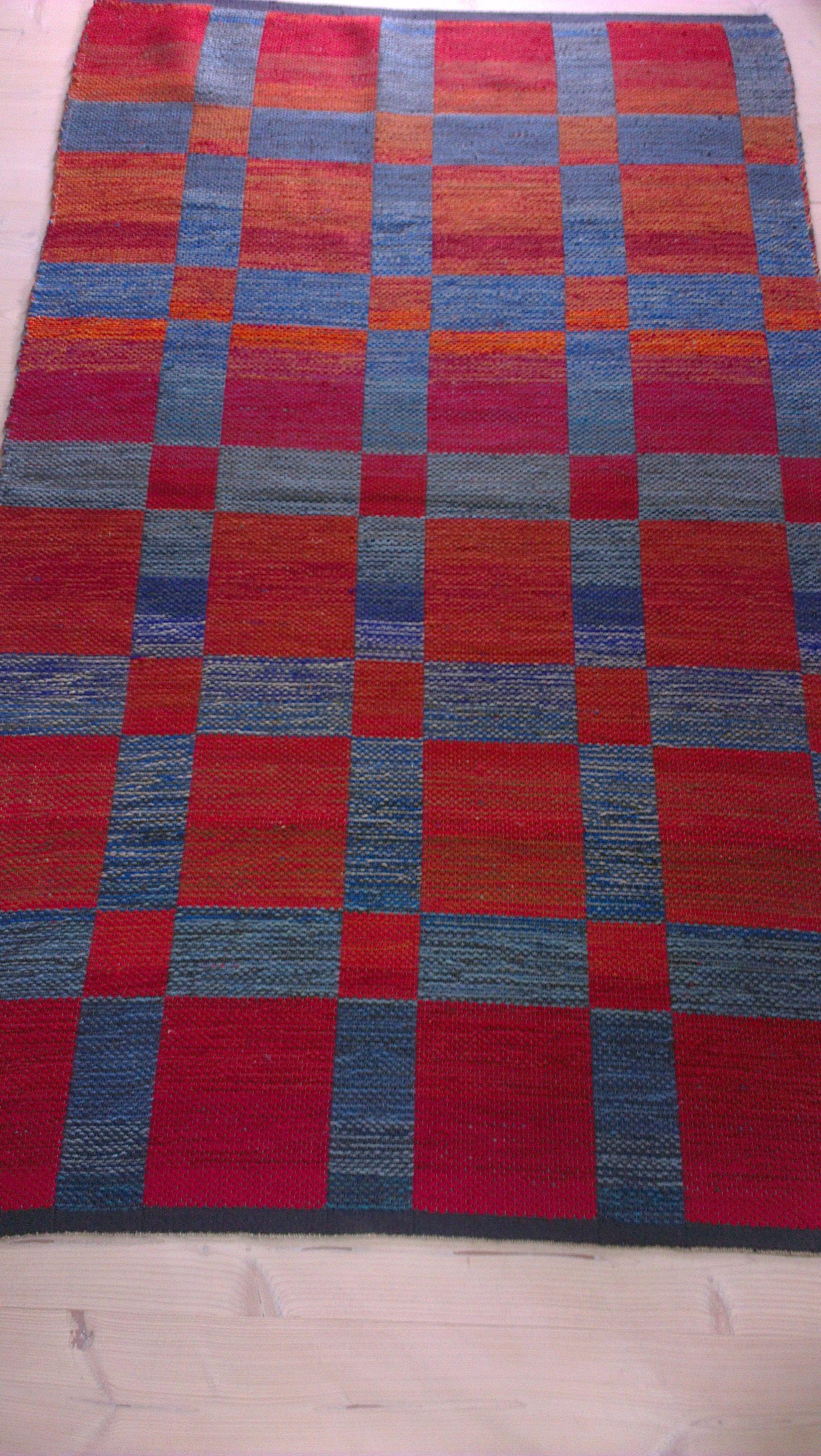 Dobbeltvævet gulvtæppe i uld