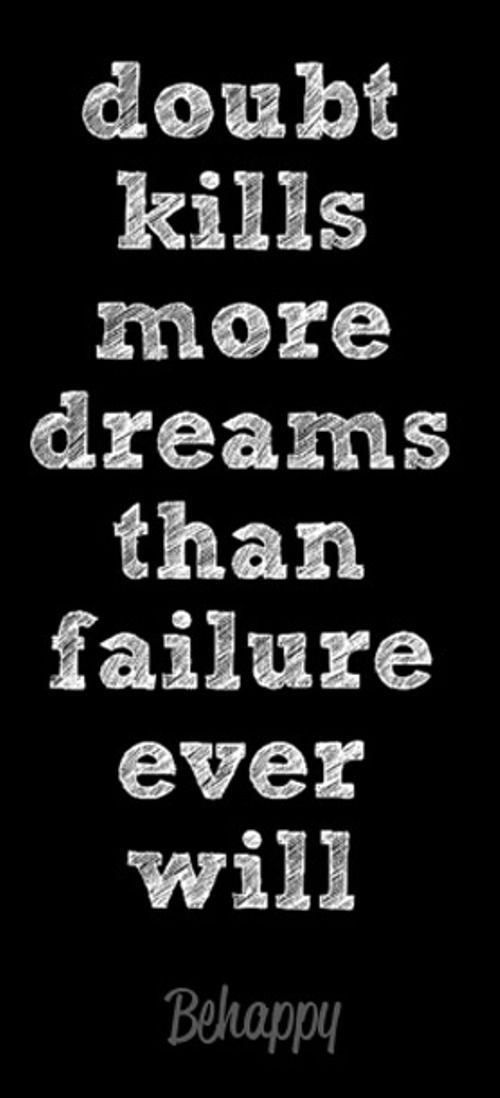 Motivational Fitness Quotes QUOTATION U2013 Image : Quotes Of The Day U2013  Description Donu0027t Let Doubt Kill Your Dreams Sharing Is Caring U2013 Donu0027t  Forget To Share ... Pictures