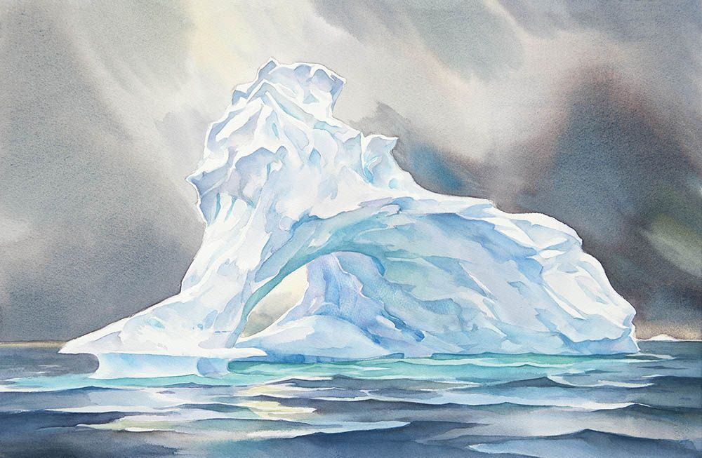 Iceberg N 14 Watercolor Art Painting