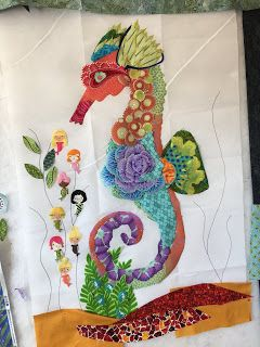 WHERE'S THE DUDE: Sea Horse Collage wall hanging #collagewalls
