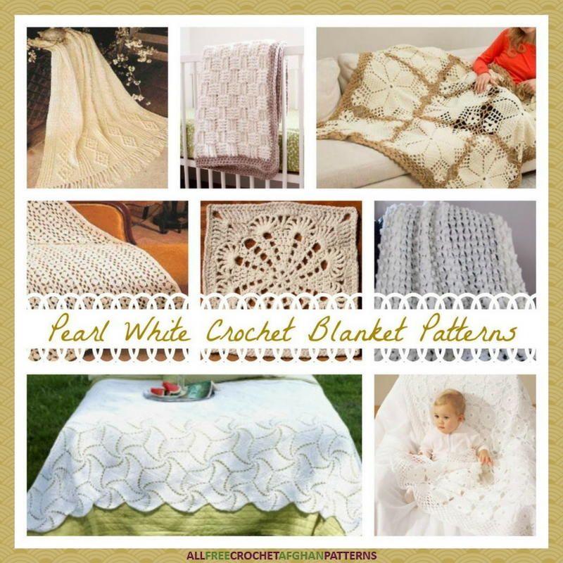 17 Pearl White Crochet Blanket Patterns | Afghans | Pinterest