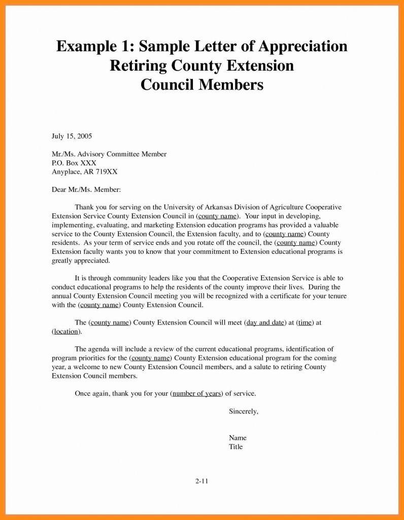 Sample Recognition Letter