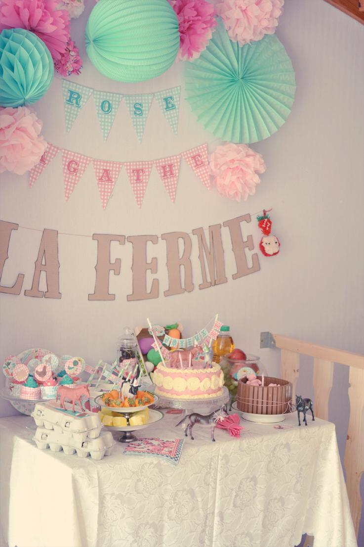 Pince mi et Pince moi Ferme Party  la sweet table   Idée ...