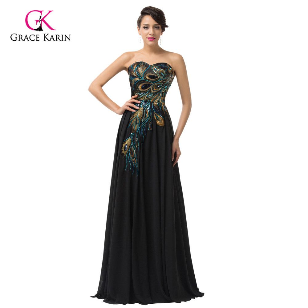2015 Grace Karin Vintage Peacock Dress Purple Formal Evening Dress Long Dress Masquerade Party Prom Party Dresses Sequin Bridesmaid Dresses Ball Gowns Evening [ 1000 x 1000 Pixel ]
