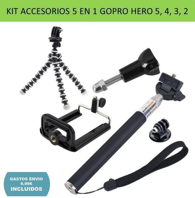 Metal Soporte Trípode Adaptador CNC Videocámara para Gopro Hero 6 5 4 3 3 2 1