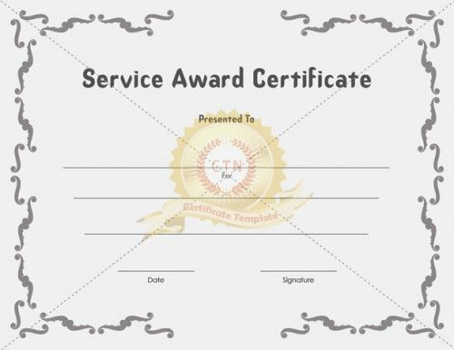 Service Award Certificate Templates Certificate Template Awards Certificates Template Certificate Templates Award Certificates