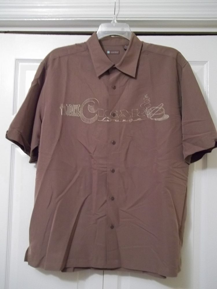 Centro Strike Cigar Lounge Bowling Embroidered Button Front Shirt - SIZE XL  #Centro #ButtonFront