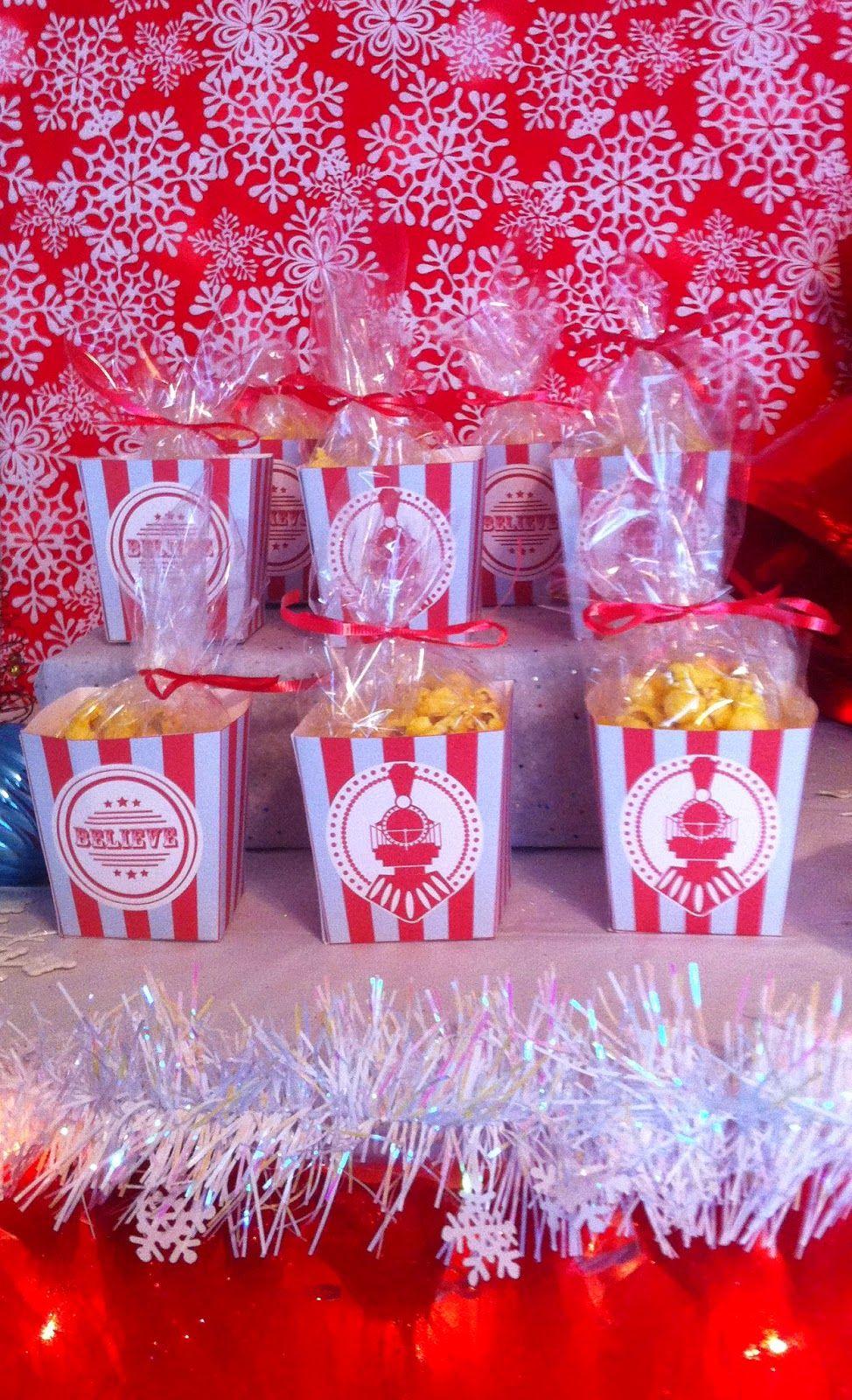 Polar Express Party Popcorn Boxes Polar Express Party