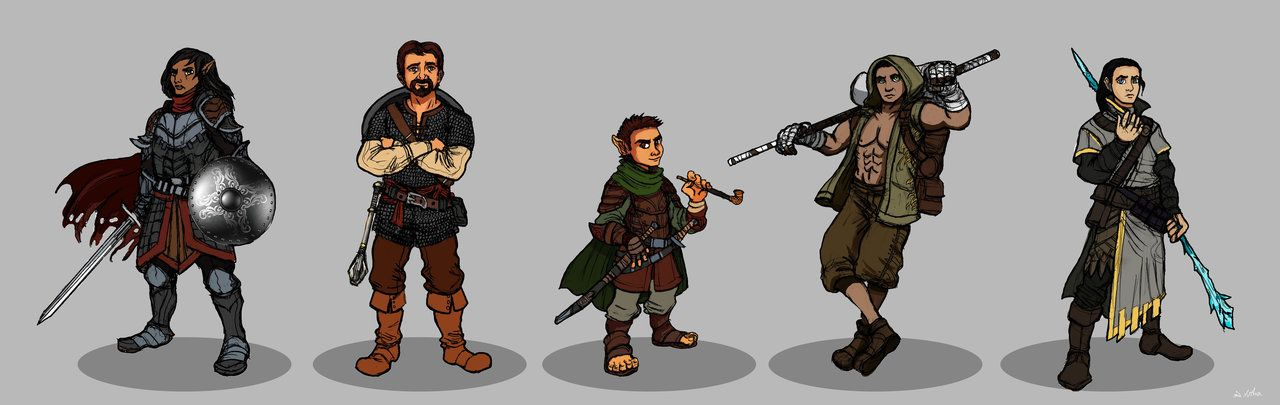 Commission dnd party character design dnd party