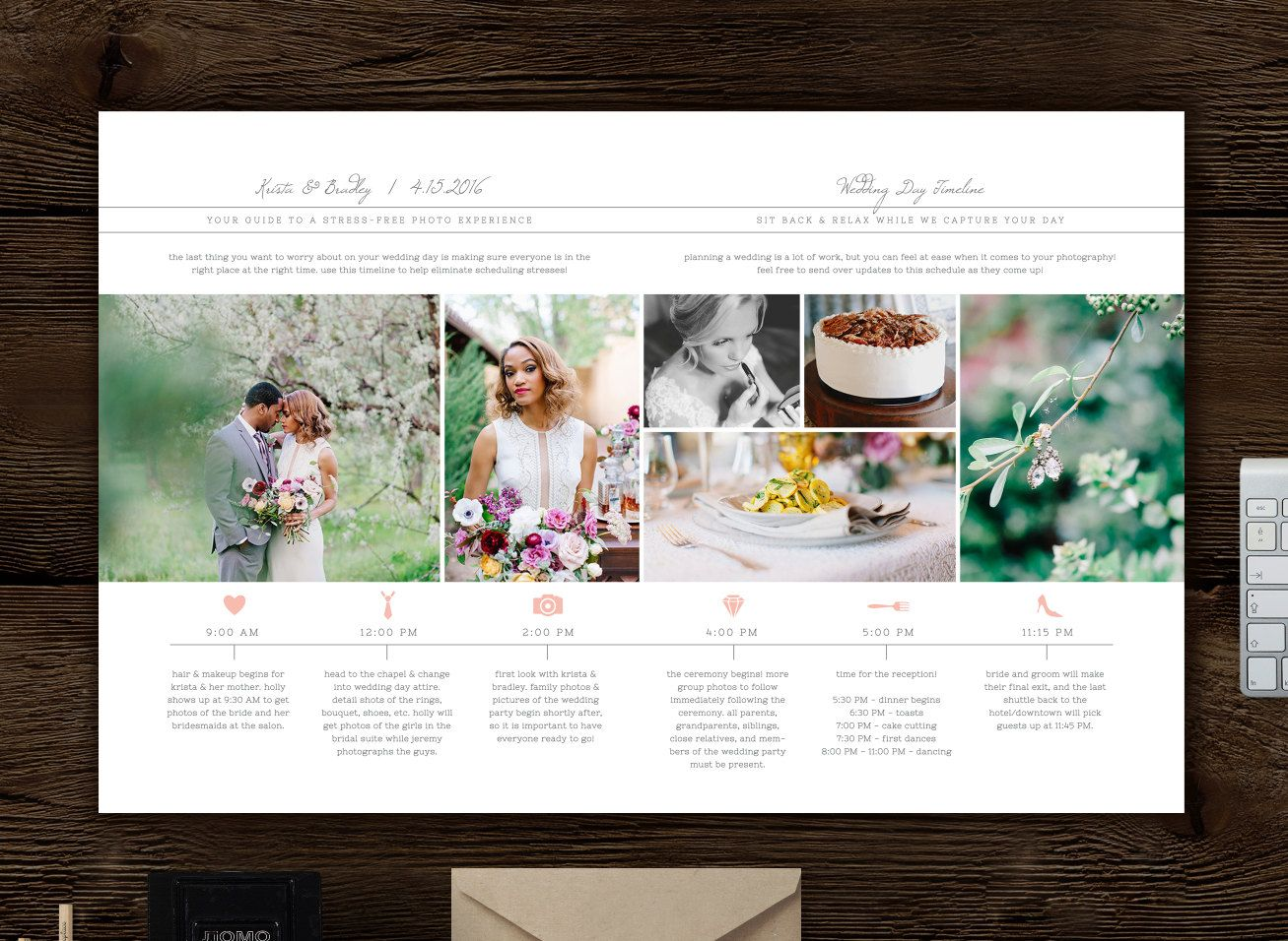 Wedding Day Timeline Template for Photographers - Studio Welcome ...