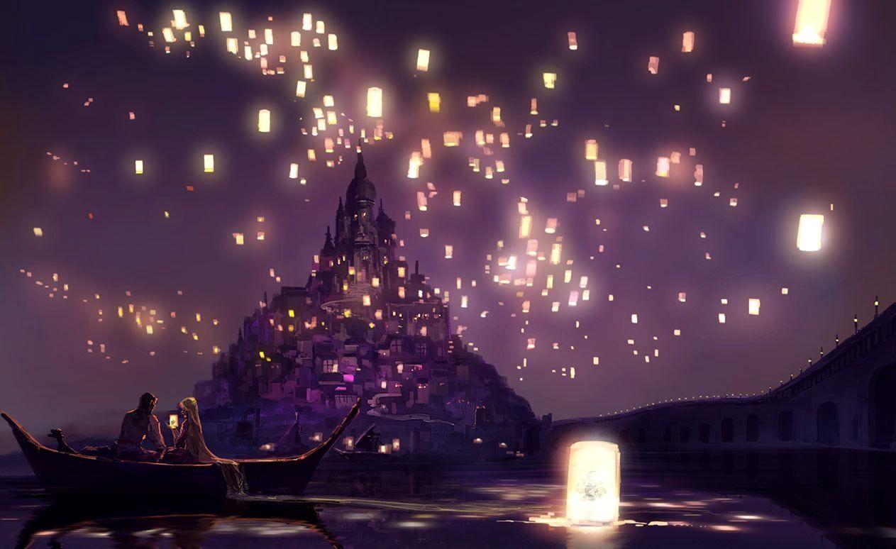 Tangled Lights Scene Trick Linternas Enredadas Fondo De Pantalla Laptop Imagenes De Disney